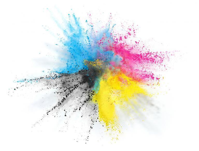 Giclée färgstänk - Ad Art