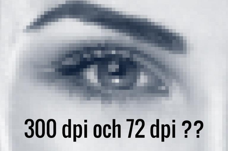 300 dpi och 72 dpi