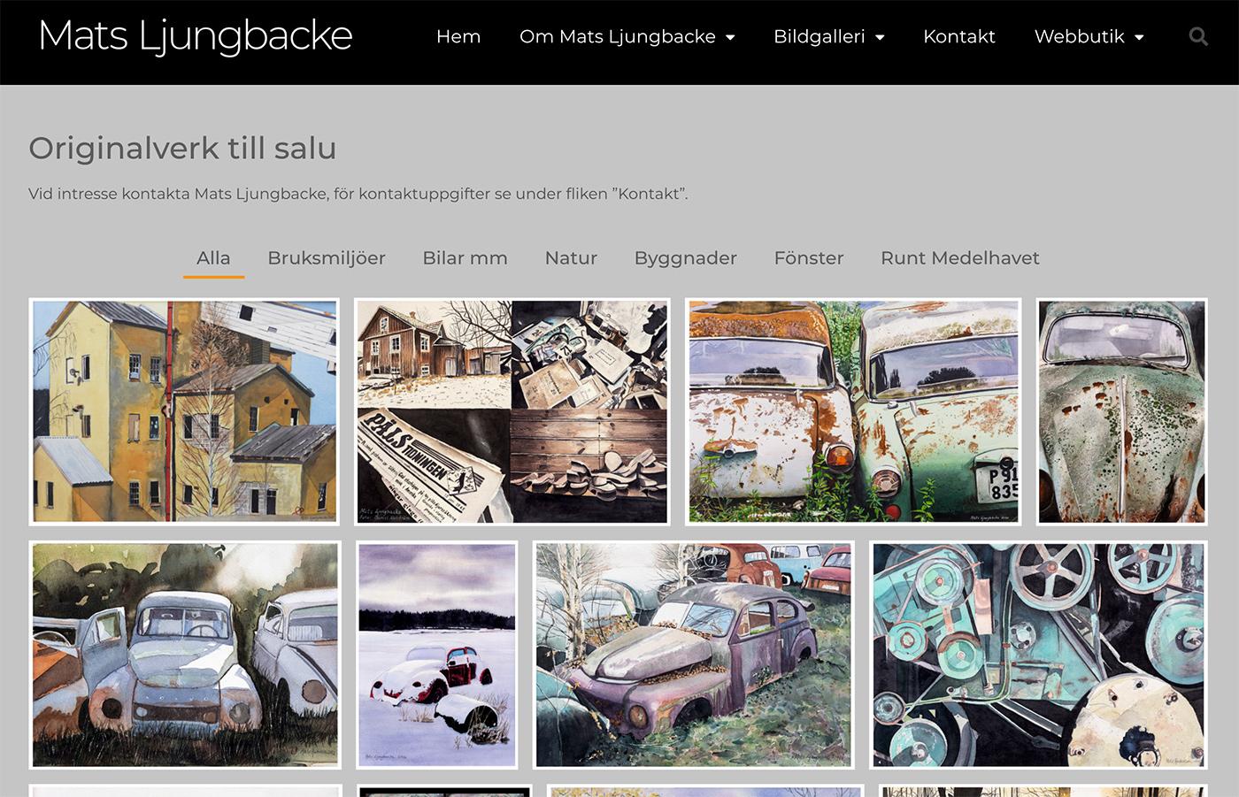 Mats Ljungbacke hemsida